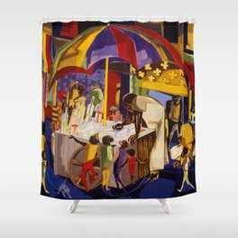 Ices by Jacob Lawrence African American Masterpiece Shower Curtain