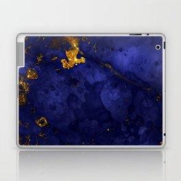 Gold Blue Indigo Malachite Marble Laptop & iPad Skin