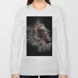 Burning face of man art Long Sleeve T-shirt