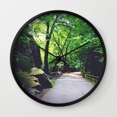 A Woodland Path Wall Clock