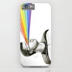Geordi Rainbow Watercolor Portrait Geek Sci-fi iPhone 6s Slim Case
