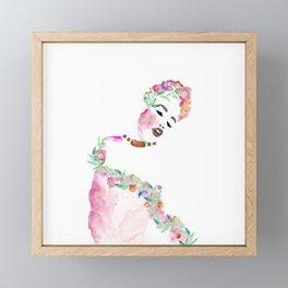 Flowered woman 2 Framed Mini Art Print