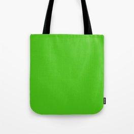 Solid Bright Onion Green Color Tote Bag