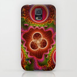 Balance and Chaos, modern fractal abstract iPhone Case