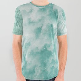Surfing in the Ocean All Over Graphic Tee