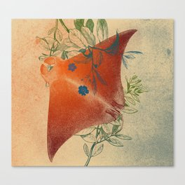 Stingray in The Weeds Canvas Print