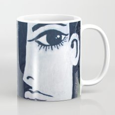 Mixed Media VERO AMORE GIRL - Black and White Coffee Mug