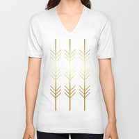 stay gold V-neck T-shirts featuring stay gold by Reckless Crush