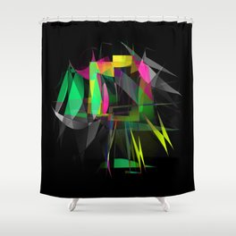 pinched four Shower Curtain