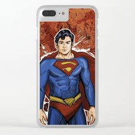 Super Hero Man Clear iPhone Case