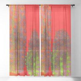 three cactus Sheer Curtain