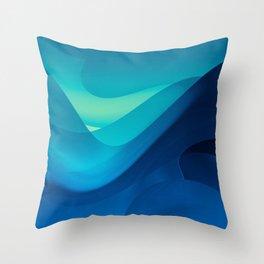 Blue Ocean Throw Pillow