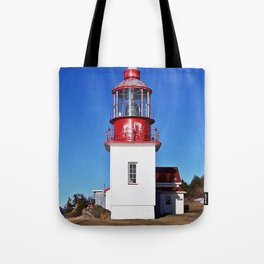 Lighthouse Cap-Chat Quebec Tote Bag
