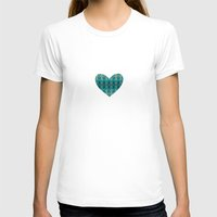 wooden T-shirts featuring Wooden Heart by Liesel Beukes