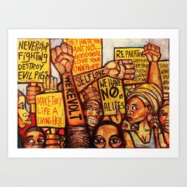2020 Reparations Is My Only Language End The Psychotic Maniac Terrorism by Marcellous Lovelace Art Print