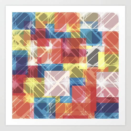 squares n holes... Art Print
