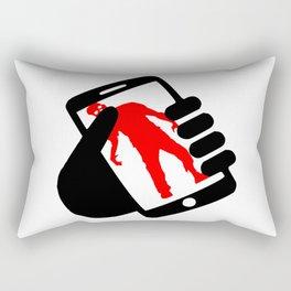 smartphone zombie logo Rectangular Pillow