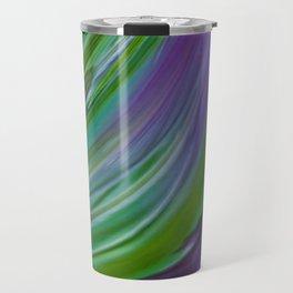 Purple Green Contemporary Abstract Travel Mug