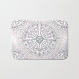 Blush Taupe Geometric Mandala Bath Mat