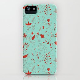Flowers red iPhone Case
