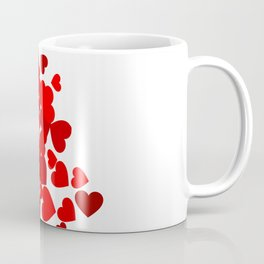 Hearts falling out of an envelope Coffee Mug