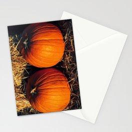 Twin Vintage Pumpkins Stationery Cards
