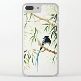 Blue Bird on The Branch Clear iPhone Case