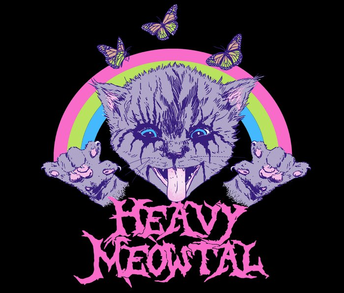Heavy Meowtal Metal Travel Mug