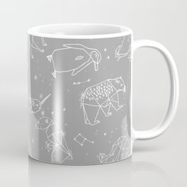 Origami Constellations - geometric animals constellations design - grey Coffee Mug