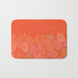 LEAVES ENSEMBLE ORANGE FLAME Bath Mat