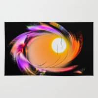 sunrise Area & Throw Rugs featuring Sunrise by Walter Zettl