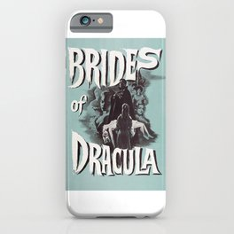 Brides of Dracula, vintage horror movie poster iPhone Case
