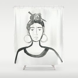 Hair Pin Shower Curtain