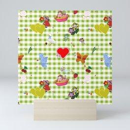 Favorites (with gingham) Mini Art Print
