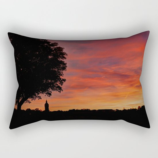 Gorgeous sunset in LOVE Rectangular Pillow