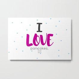 Pancakes Metal Print