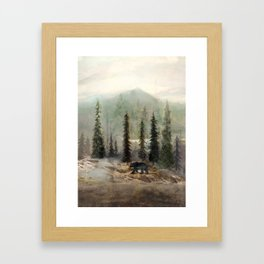 Mountain Black Bear Framed Art Print