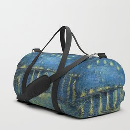 Starry Night Over the Rhône by Vincent van Gogh Duffle Bag