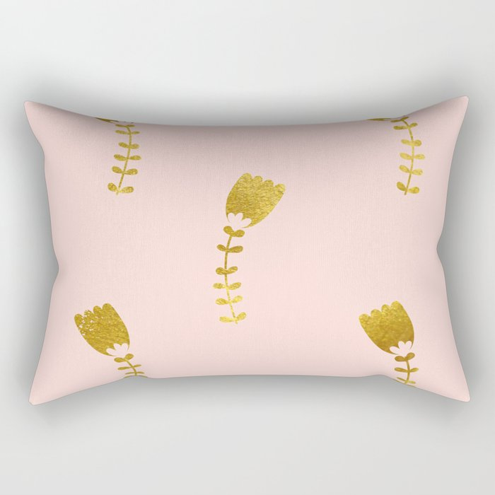 Pink Gold Foil 03 Rectangular Pillow