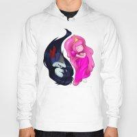 yin yang Hoodies featuring Yin+Yang by laPanny