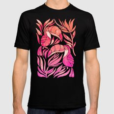Tropical Toucans – Pink Ombré Palette LARGE Mens Fitted Tee Black