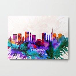 Fukuoka Skyline Metal Print