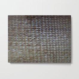 Earthy reeds woven Metal Print
