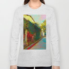 Old wall of the ancient city Long Sleeve T-shirt
