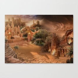 Desert paradise on the edge of Hell - Sandstorm Canvas Print