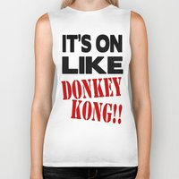 donkey kong Biker Tanks featuring It's On Like Donkey Kong!! by Raunchy Ass Tees