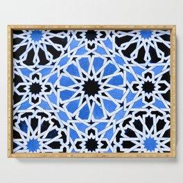 Moroccan Zellige pattern Serving Tray