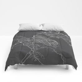 Halifax Map, Canada - Gray Comforters