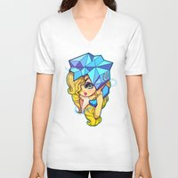 telephone V-neck T-shirts featuring Telephone by Mickey Spectrum