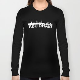 Curved Skyline Of Abu Dhabi United Arab Emirates Long Sleeve T-shirt